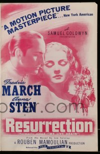 2623 WE LIVE AGAIN pressbook R44 Anna Sten, Fredric March, Rouben Mamoulian, Resurrection!