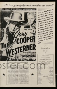 2625 WESTERNER pressbook R54 Gary Cooper, epic drama of the birth of a border empire!