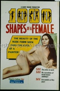 1000 SHAPES OF A FEMALE 1sh '63