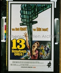 13 FRIGHTENED GIRLS 1sh '63