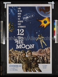 12 TO THE MOON 1sh '60