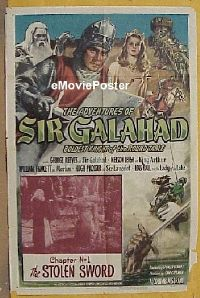 #070 ADVENTURES OF SIR GALAHAD 1sh '49 serial