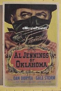 #072 AL JENNINGS OF OKLAHOMA 1sh '50 Duryea