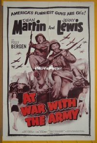 #045 AT WAR WITH THE ARMY 1sh R58 Martin