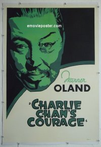 #2284 CHARLIE CHAN'S COURAGE linen 1sh '34