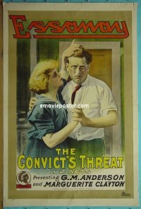 #2073 CONVICT'S THREAT 1sh '15 Broncho Billy