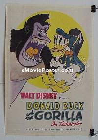 #041 DONALD DUCK & THE GORILLA linen 1sh '44