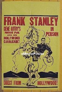 #046 FRANK STANLEY IN PERSON 1sh '30s stage