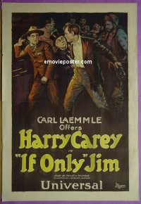 #2077 'IF ONLY' JIM 1sh '20 Harry Carey