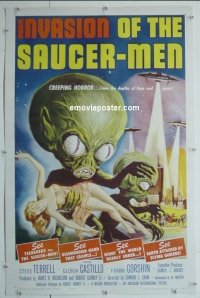 #003a INVASION OF THE SAUCER MEN linen 1sh'57