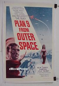 #002 PLAN 9 FROM OUTER SPACE linen 1sh '58