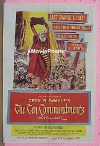 #052 10 COMMANDMENTS 1sh '56 Heston