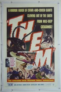 #2424 THEM linen 1sh '54 classic giant bugs!