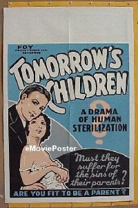 #017 TOMORROW'S CHILDREN 1sh 34 sterilization