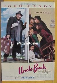 #379 UNCLE BUCK advance DS 1sh '89 Candy