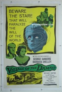 #2435 VILLAGE OF THE DAMNED linen 1sh '60