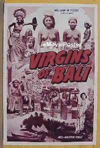 #032 VIRGINS OF BALI 1sh '40s topless natives