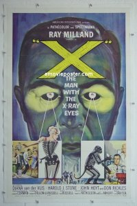 #2103 X THE MAN WITH THE X-RAY EYES 1sh '63