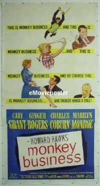 #026 MONKEY BUSINESS linen 3sh '52 Cary Grant