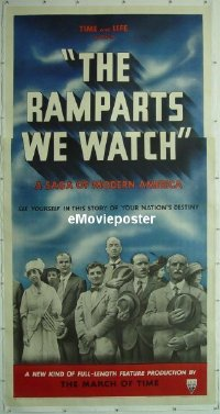 #029 RAMPARTS WE WATCH linen 3sh '40 of Time