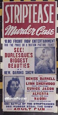 #024 STRIP TEASE MURDER CASE 3sh'50 burlesque