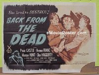 #273 BACK FROM THE DEAD British quad '57