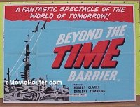 #415 BEYOND THE TIME BARRIER British quad '59