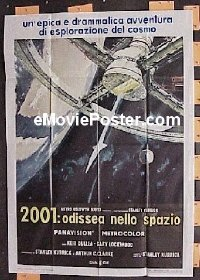 #619 2001 A SPACE ODYSSEY Italian poster R70s