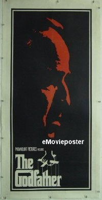 #003 GODFATHER linen poster '72 best image!