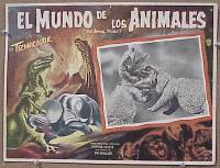 #217 ANIMAL WORLD Mexican LC '56 dinosaurs!
