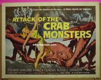#2068 ATTACK OF THE CRAB MONSTERS linen 1/2sh