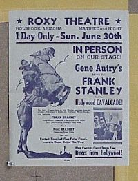 #048 FRANK STANLEY IN PERSON Aust daybill l30s stage