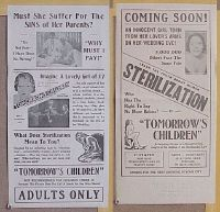 #019 TOMORROW'S CHILDREN movie herald R30s human sterilization, it's frank and shocking!