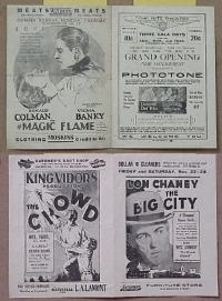 #054 BIG CITY herald '28 Lon Chaney Sr