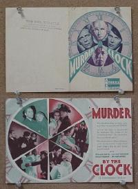 #068 MURDER BY THE CLOCK herald '31 Boyd