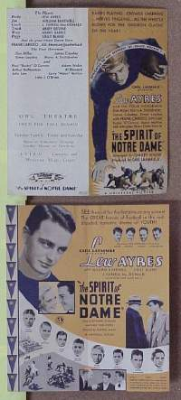 #073 SPIRIT OF NOTRE DAME herald '31 football