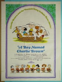 #2205 BOY NAMED CHARLIE BROWN 30x40 70 Snoopy