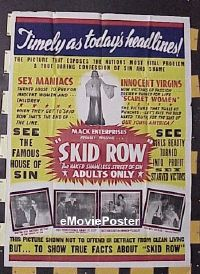 #021 SKID ROW 2-sheet '50 wild exploitation!