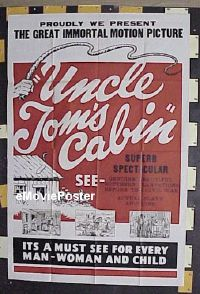#007 UNCLE TOM'S CABIN 40x60 R50 Harriet Beecher Stowe