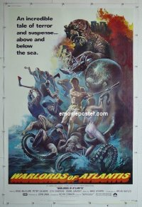 #2199 WARLORDS OF ATLANTIS 40x60 '78 McClure