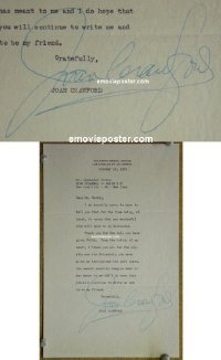 #6003 JOAN CRAWFORD great signed letter '51