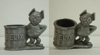 #3004 FELIX THE CAT Pewter Holder circa 1940s