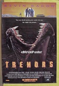 #378 TREMORS video 1sh '89 Kevin Bacon