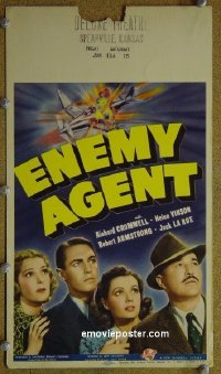 #6026 ENEMY AGENT mini WC 40 Robert Armstrong