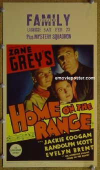 #6028 HOME ON THE RANGE mini WC '34 Zane Grey