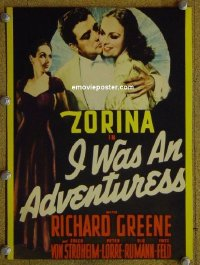 #6029 I WAS AN ADVENTURESS mini WC '40 Zorina