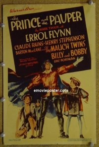 #6036 PRINCE & THE PAUPER mini WC '37 Flynn