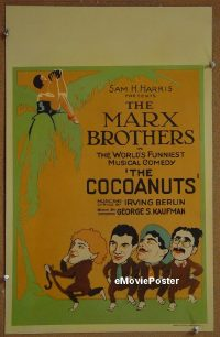 #001 COCOANUTS stage play WC'29 Marx Brothers