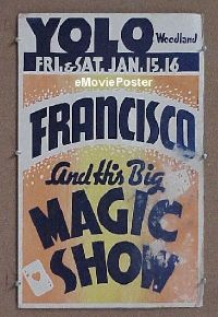 #043 FRANCISCO AND HIS BIG MAGIC SHOW WC '30s