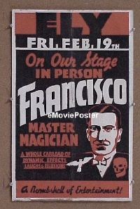 #042 FRANCISCO THE MASTER MAGICIAN WC '30s